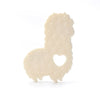 Loulou Lollipop Silicone Teether with Clip - Llama