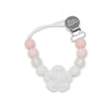 Loulou LOLLIPOP Lolli Flower Pacifier Clip- Baby Powder