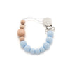 Loulou LOLLIPOP Color Block Pacifier Clip-Baby Blue