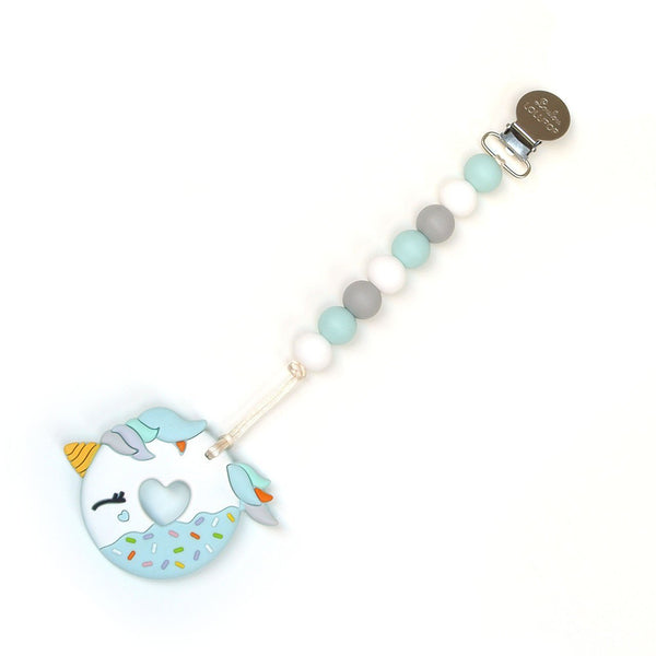 Loulou LOLLIPOP Unicorn Donut Teether-Blue Grey