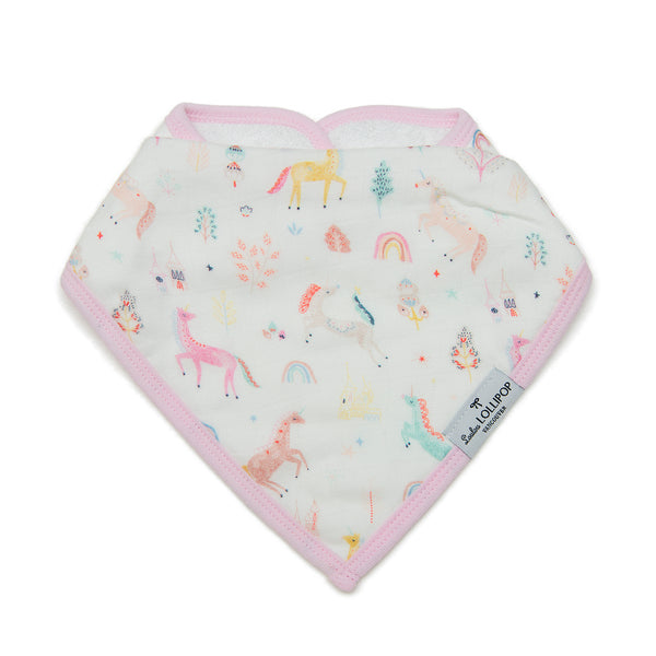 Loulou LOLLIPOP Luxe Muslin Bib Set - Unicorn Dream