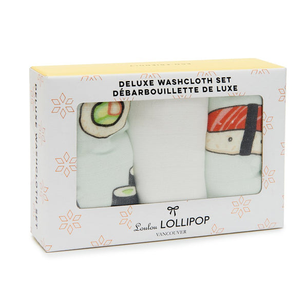 Loulou LOLLIPOP Washcloth 3-pieces Set - Sushi