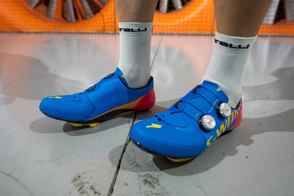 Specialized S-Works 7 Road Cycling shoes in the Wind Tunnel vs. VeloVetta Monarch test results.