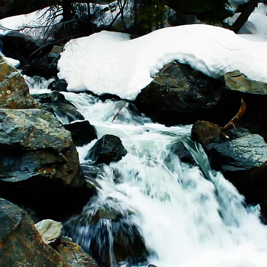10 Hours of Winter Waterfall Sounds