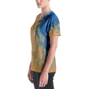 Women's V-neck- Io Sunrise