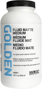 Fluid Matte Medium, Quart