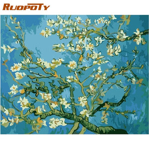 Almond Blossoms Paint by Number