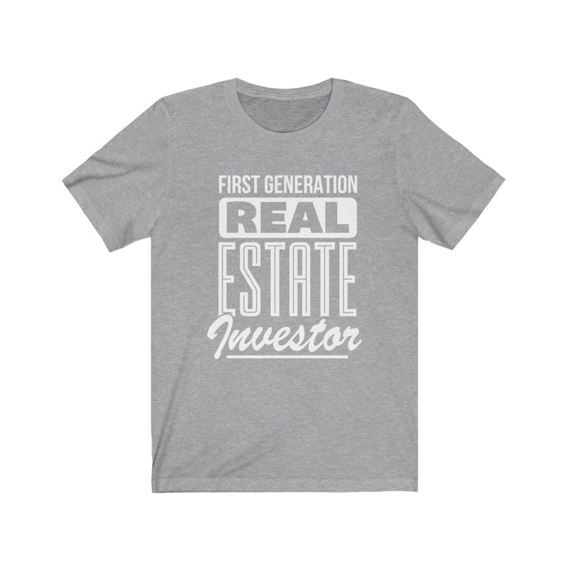 Unisex Tee First Generation Real Estate Investor