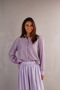 SHIRTING LILA STRIPES