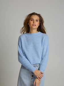 WOOL/VISCOSE LIGHT BLUE