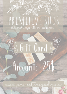 Primitive Suds Gift Card