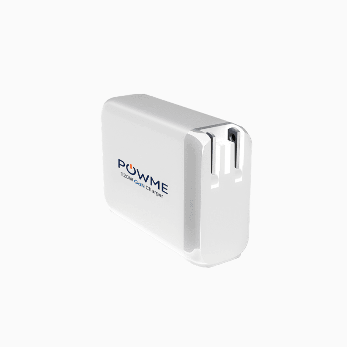 120W white wall charger