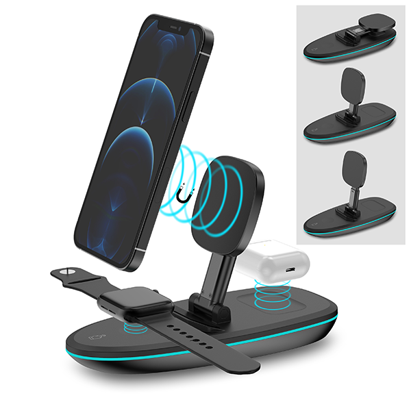 Magnetic wireless charger fpr iphone, apple watch and airpods