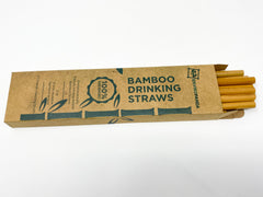 EnviroPanda Bamboo Drinking Straws in packaging front view open top with straws protruding from the top