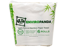 EnviroPanda Natural Bamboo Paper Towel 6 pack
