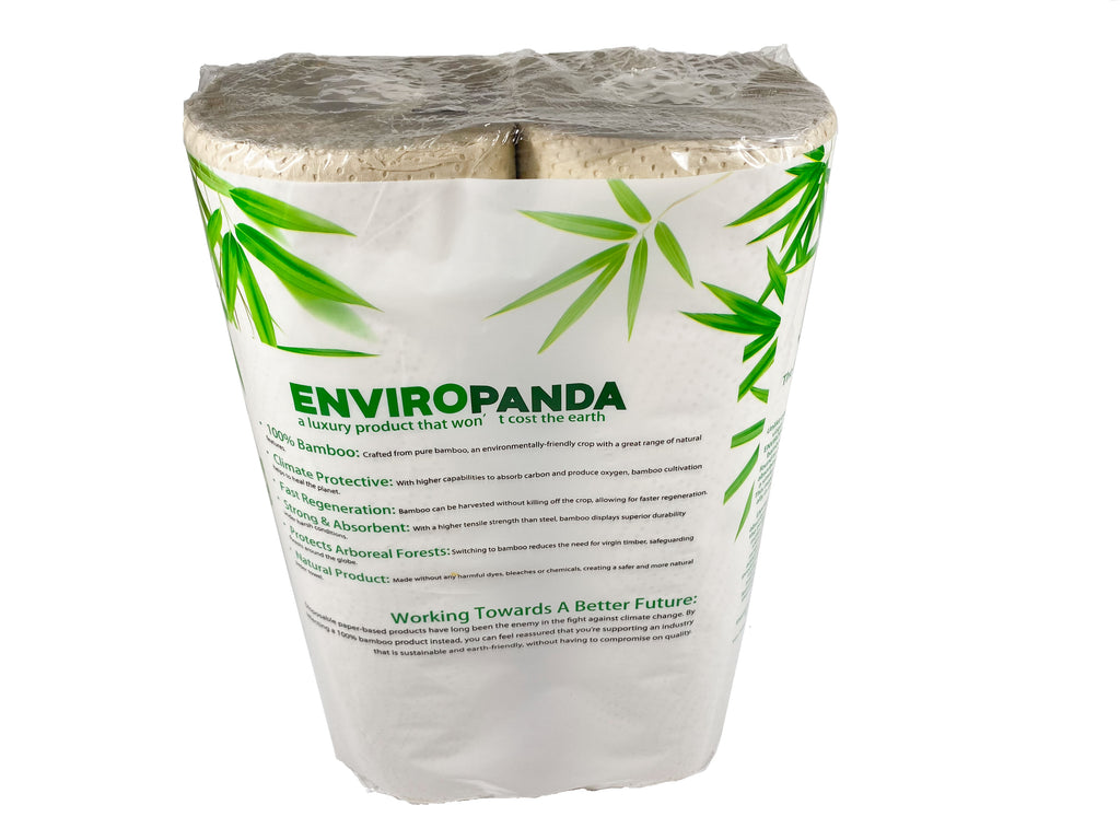 Enviropanda Bamboo Paper Towels 2 Ply Brown Color 2 Rolls