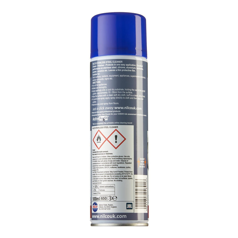 Nilco C8 Stainless Steel Cleaner - 500ml | Case of 6 | £4.35 Each