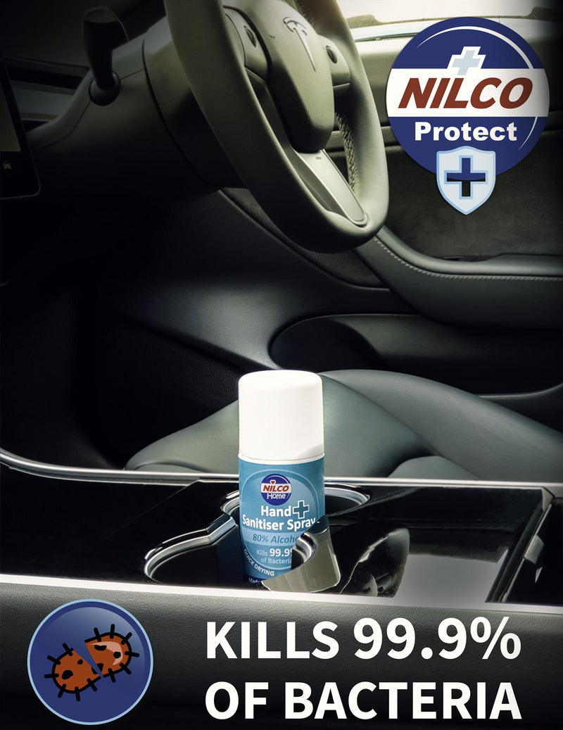 Nilco Hand Sanitiser Antibacterial Sanitising Aerosol Spray - 150ml | Case of 6 | £2.26 Each