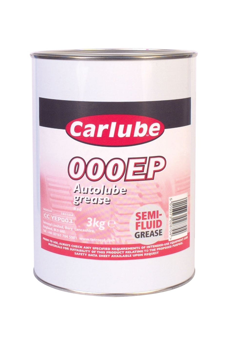 Carlube Autolube OOOEP Extreme Pressure Red - Grease 3Kg