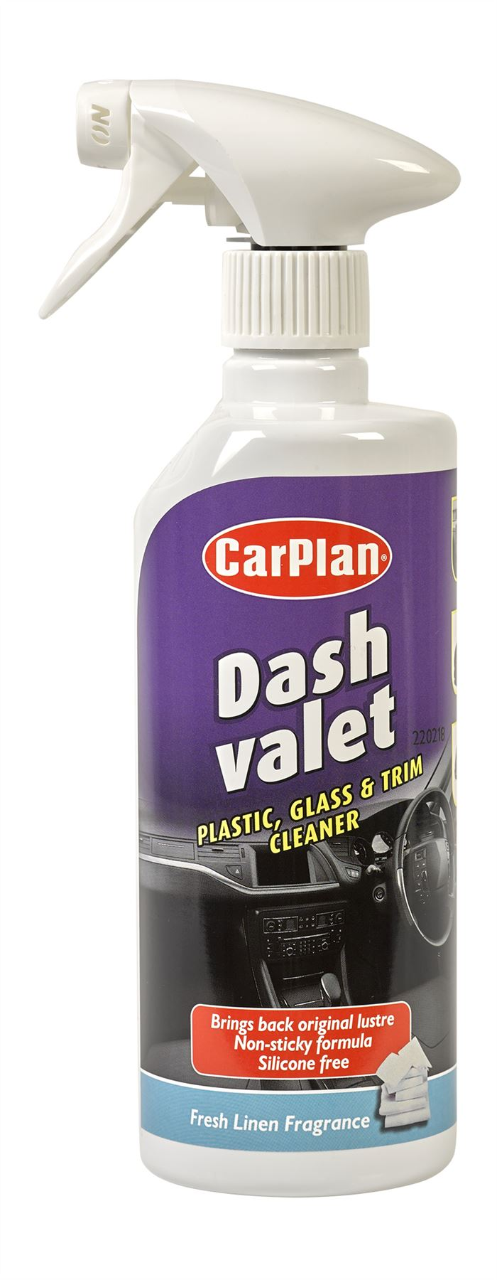 CarPlan Dash Valet Plastic, Glass & Trim Cleaner - 600ml