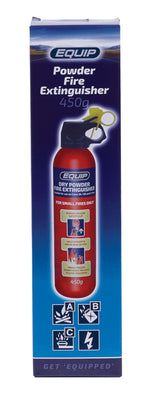Equip Dry Chemical Powder Fire Extinguisher - 450g