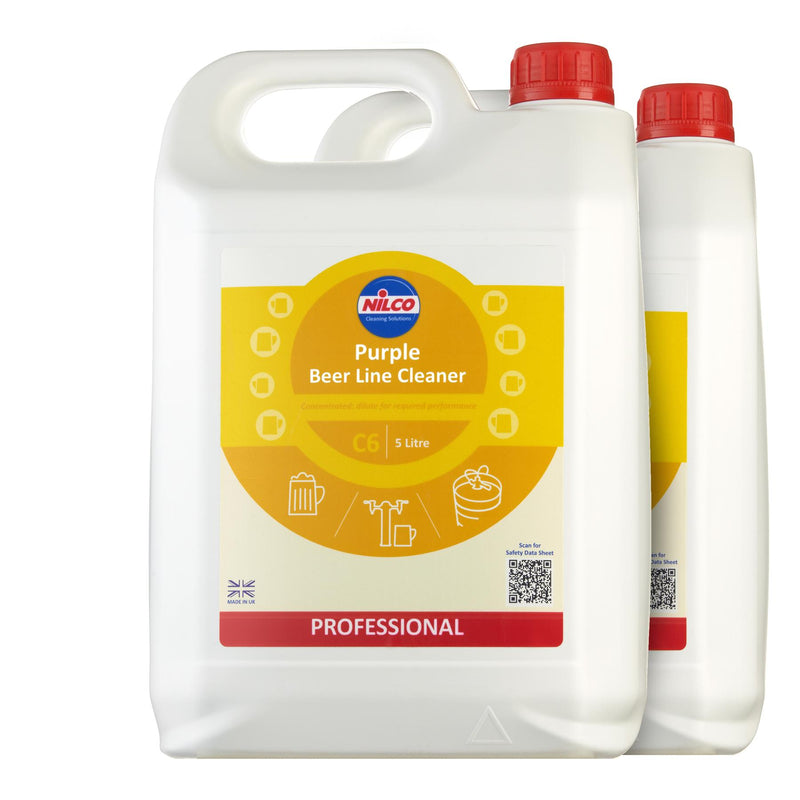 Nilco C6 Purple Beer Line Cleaner - 5L | Case of 2 | £12.18 Each