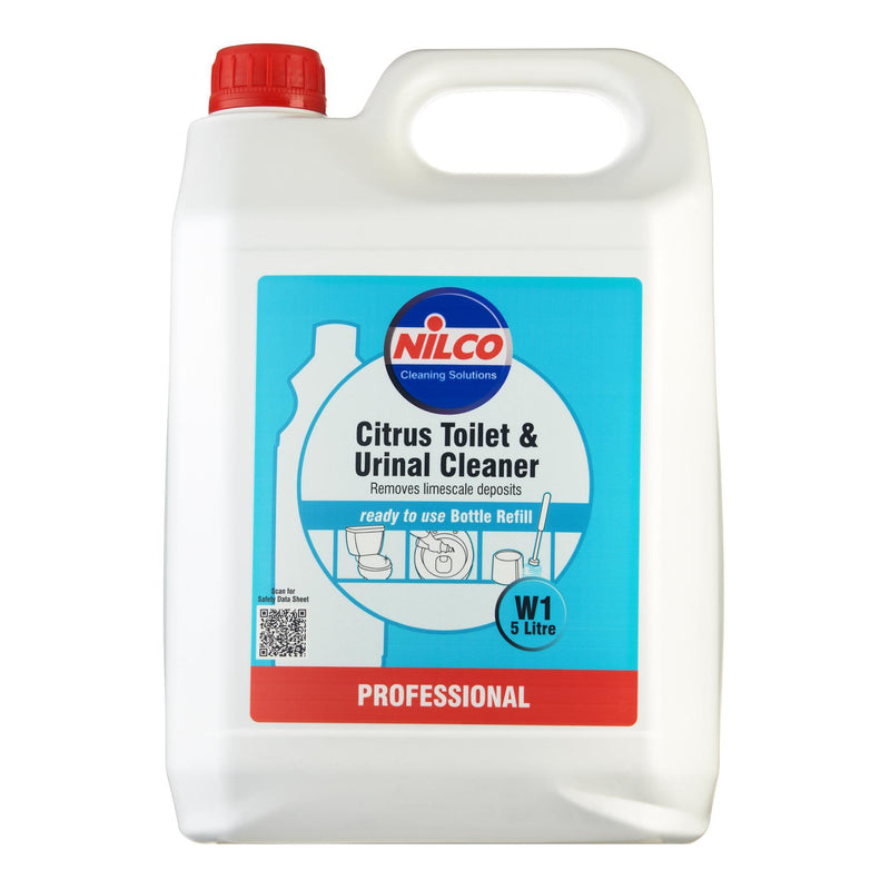 Nilco W1 Citrus Toilet & Urinal Cleaner - 5L | Case of 2 | £10.97 Each