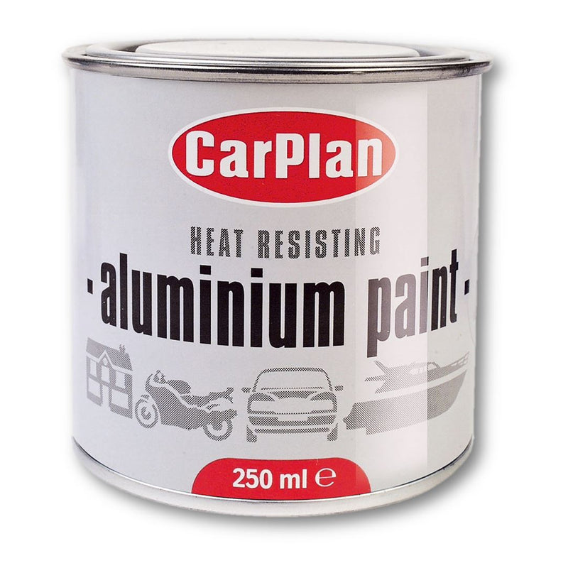 CarPlan Heat Resistant Aluminium Paint - 250ml