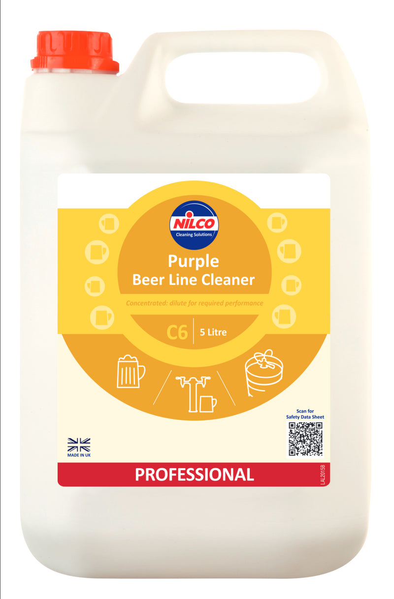 Nilco C6 Purple Beer Line Cleaner - 5L