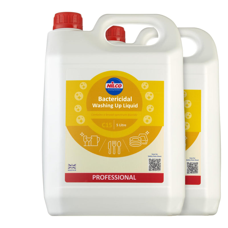 Nilco C15 Bactericidal Washing Up Liquid - 5L | Case of 2 | £10.83 Each