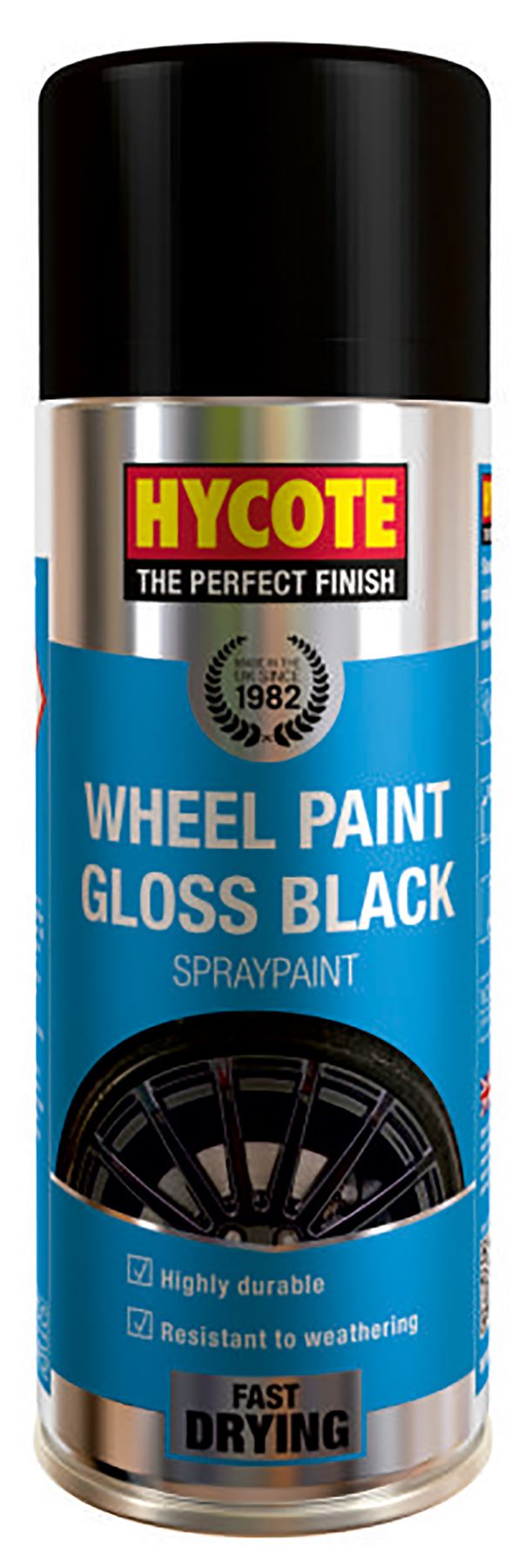 Hycote Gloss Black Wheel Paint - 400ml