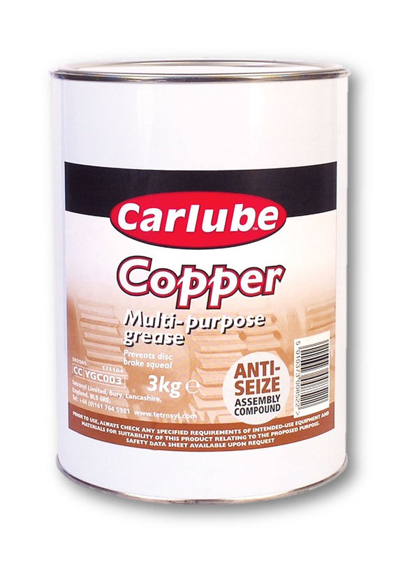 Carlube Multi Purpose Copper Grease - 3Kg