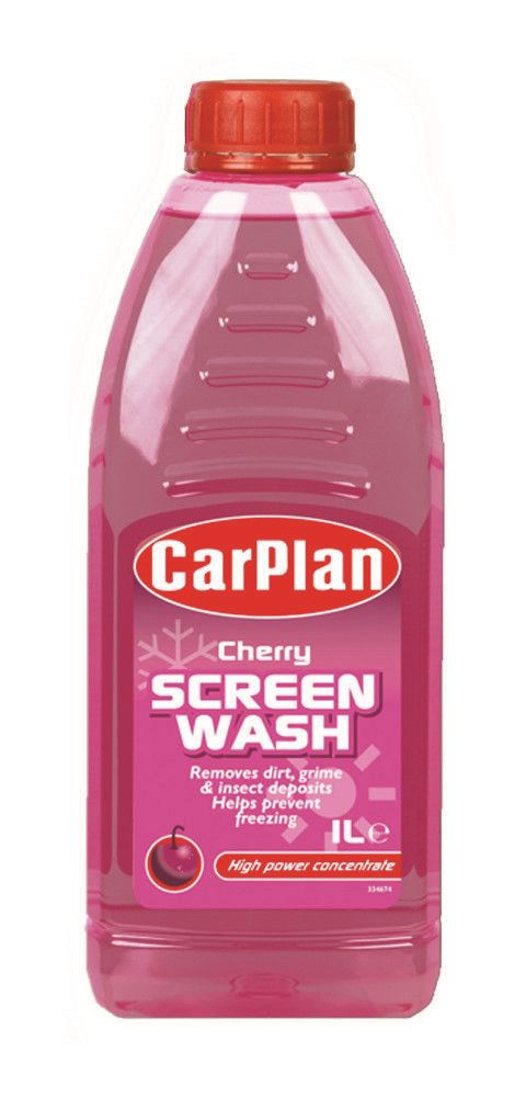 CarPlan Cherry Fragranced Concentrated Screenwash - 1L