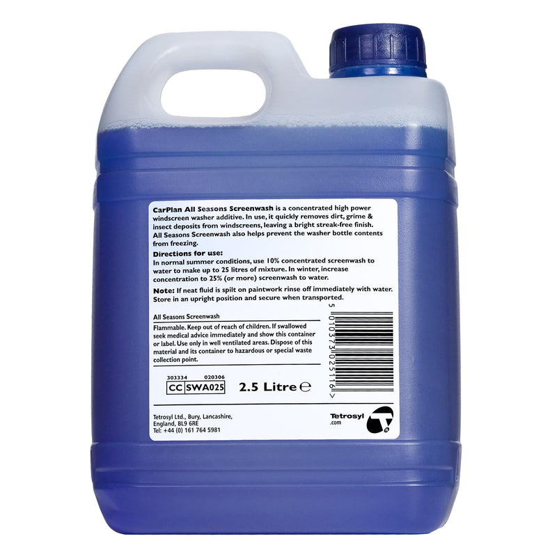 CarPlan All Season Concentrated Screenwash - 2.5L