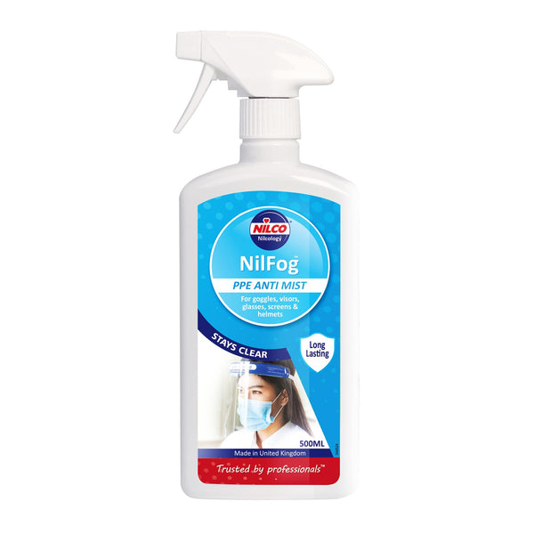 Nilco Nilfog™ PPE Anti Mist Spray 500ml| Case of 6 | £6.33 Each