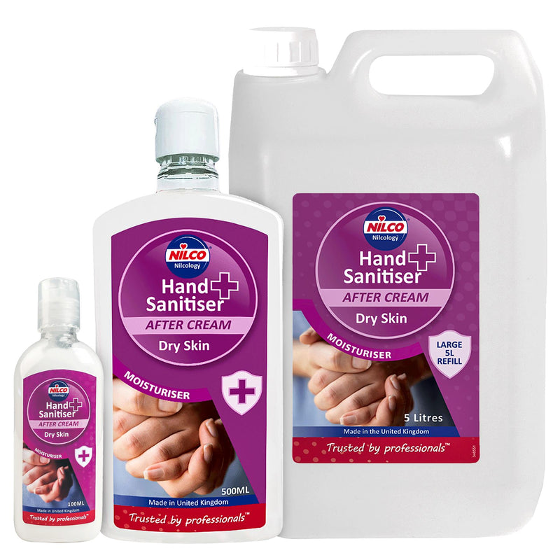 Nilco Hand Sanitiser After Cream Dry Skin Moisturiser - 5L | Case of 4 | £14.84 Each