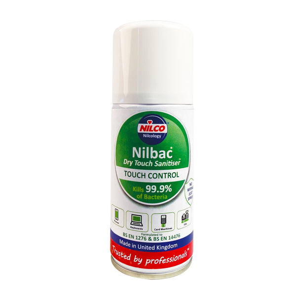 Nilco Nilbac® Dry-Touch Sanitiser Antibacterial Aerosol Spray - 150ml