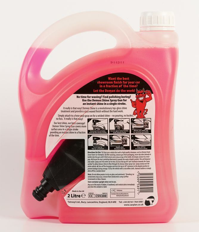 CarPlan Demon Shine Spray on Shine With Gun - 2L