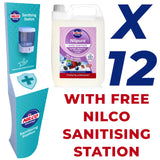 Nilco Nilpure Berry Blast Scented Hand Sanitiser - 5L x 12 with Free Nilco Sanitising Station