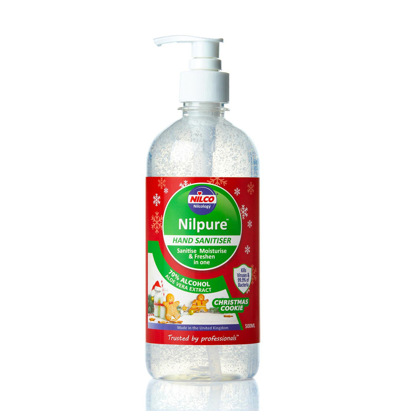 Nilco Nilpure Moisturising Fragranced Christmas Cookies Scented Hand Sanitiser -500ml