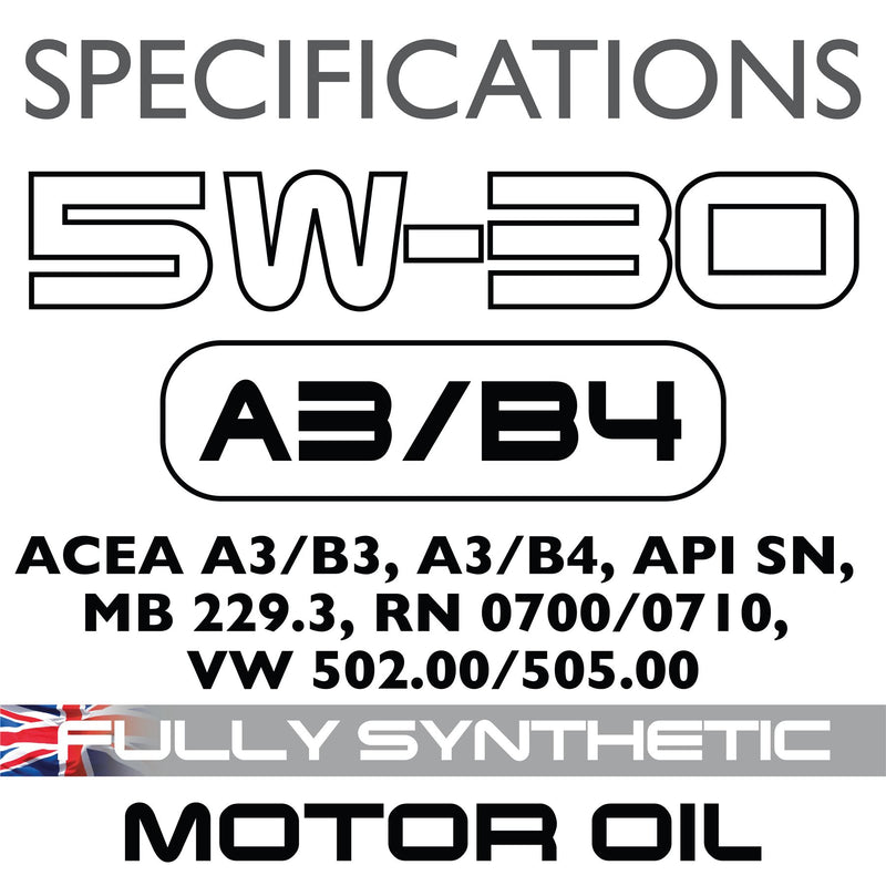 Carlube 5W-30 A3/B4 Fully Synthetic Engine Oil - 5L