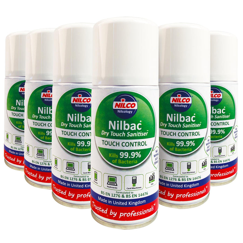 Nilco Nilbac® Dry-Touch Sanitiser Touch Control 150ml | Case of 6 | £5.74 Each