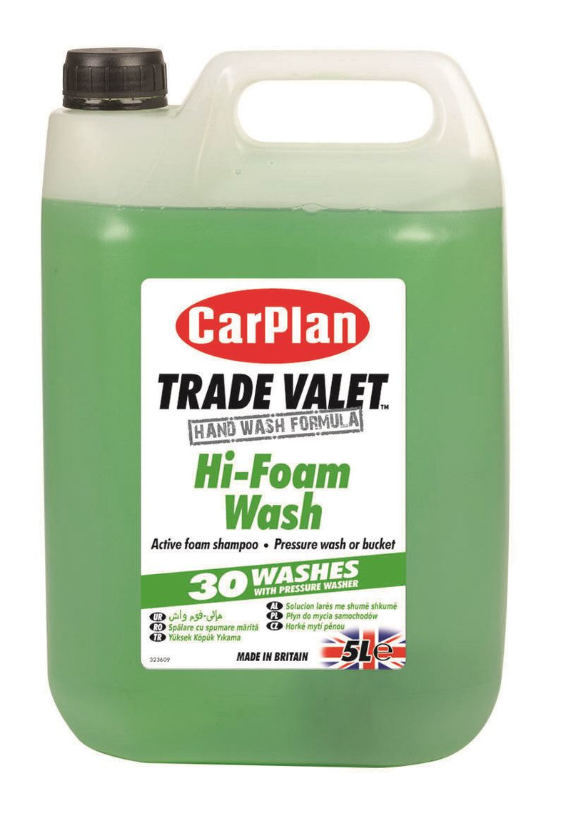 CarPlan Trade Valet Hi-Foam Wash Active Foam Shampoo - 5L