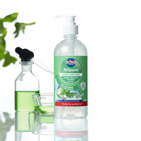 Nilco Nilpure Moisturising Fragranced Tea Tree and Mint Scented Hand Sanitiser -500ml