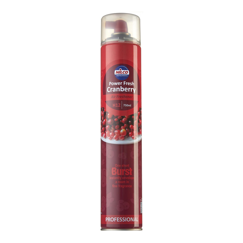 Nilco H12 Power Fresh Cranberry Aerosol Air Freshener - 750ml