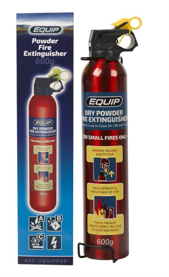 Equip Dry Chemical Powder Fire Extinguisher - 600g