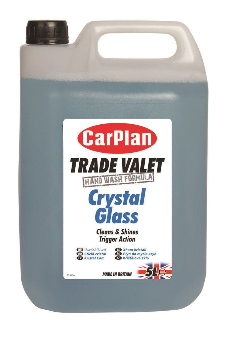 CarPlan Trade Valet Crystal Glass Cleaner - 5L