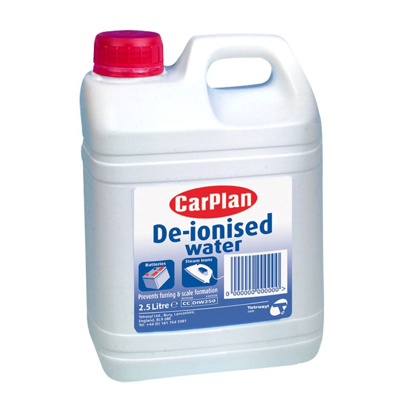 CarPlan De-Ionised Water - 2.5L