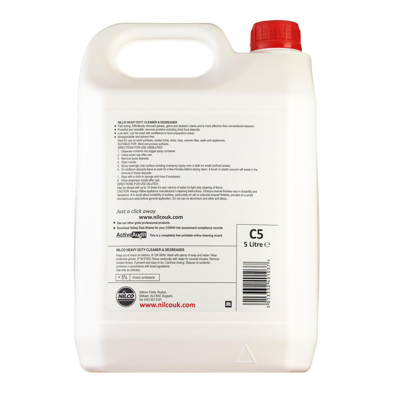 Nilco C5 Heavy Duty Cleaner & Degreaser - 5L