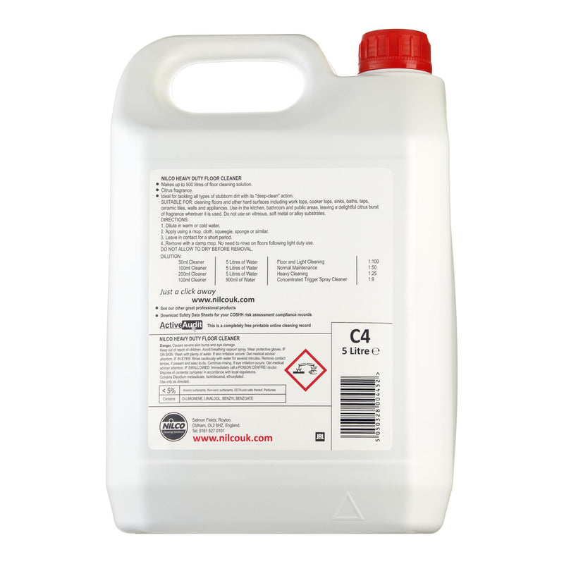 Nilco C4 Heavy Duty Floor Cleaner - 5L